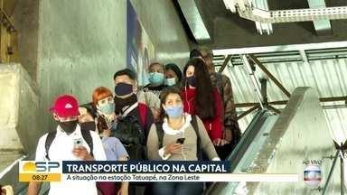 Bom Dia mostra o movimento no transporte público nessa sexta-feira - Estação Tatuapé registrou vai e vem intenso.
