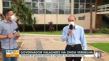 Minas Consciente: secretário de governo fala sobre o retorno de Valadares à onda vermelha - Somente serviços essenciais poderão funcionar na cidade. Veja a situação da doença na cidade.