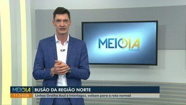 Linhas Gralha Azul e Interlagos voltam à rota normal do transporte público em Cascavel - Rota havia sido alterada por causa de obras em asfalto de ruas da região norte da cidade.