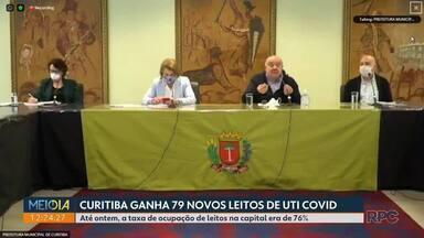 Curitiba ganha 79 novos leitos de UTI Covid-19 - Até ontem, a taxa de ocupação de leitos na capital era de 76%.