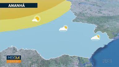 Fim de semana instável no leste do estado - A chuva vai ser isolada e mal distribuída.