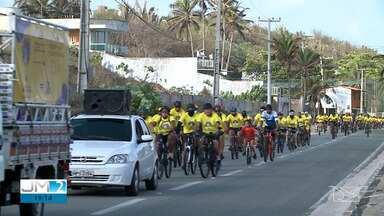 Passeio de bike chamou a atenção para a violência contra a mulher em São Luís - Confira os destaques do JM2 deste sábado (21).