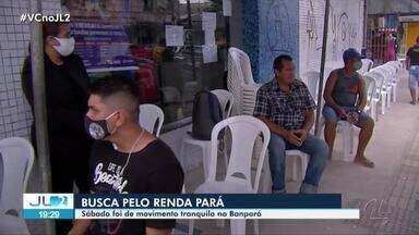 Agências do Banpará têm movimentação em 2º dia de pagamento do Renda Pará - Banco abriu as portas neste sábado para atender usuários do Bolsa Família que serão pelo programa do governo estadual.