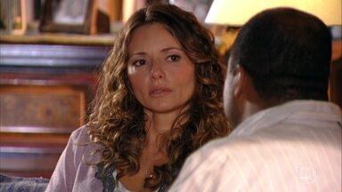 Quirino conversa com Doralice sobre a gravidez de Natália. - Ester agradece a ajuda de Guiomar