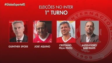 Inter tem 1º turno da eleição para presidente nesta quinta-feira (26) - Quatro chapas disputam duas vagas para próxima etapa da eleição.