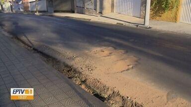 Moradores de Varginha reclamam de buracos no asfalto feitos pela Copasa - Moradores de Varginha reclamam de buracos no asfalto feitos pela Copasa