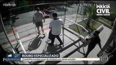Presos integrantes de quadrilha que invadia casas de chineses em vários estados - A prisão foi feita pela Polícia Civil de Minas Gerais.