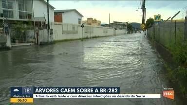 Chuva causa pontos de alagamentos na região da Grande Florianópolis - Chuva causa pontos de alagamentos na região da Grande Florianópolis