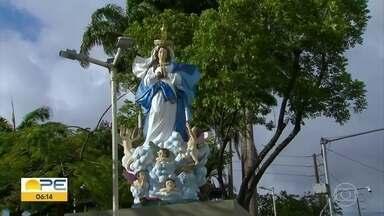 Em meio à pandemia, paróquia de Beberibe adapta homenagens à Nossa Senhora da Conceição - Palco não vai ser montado do lado de fora, como acontecia em outros anos.