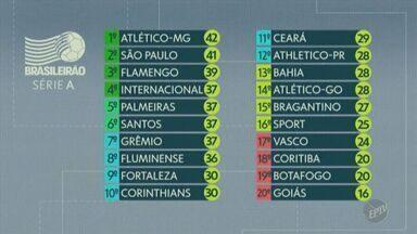 Veja as classificações da Série A do Brasileirão - Atlético continua na liderança com 42 pontos.