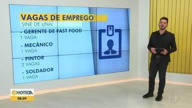 Confira as vagas oferecidas pelo Sine de Unaí nesta quinta - Sine oferece 14 vagas de emprego.