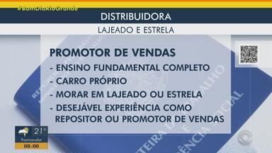 Distribuidora contrata promotor de vendas em Lajeado e Estrela - Assista ao vídeo.