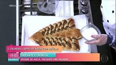 Árvore de Creme de Avelã - Ana Maria Braga mostra o passo a passo da receita deliciosa que pode enfeitar sua mesa de Natal