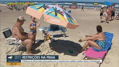 Decreto que limita atividades no litoral gaúcho preocupa rede hoteleira - Assista ao vídeo.