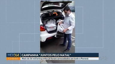"""Campanha """"Juntos pelo Natal"""" da RPC e Sesc não para de receber doações - Mais de 36 mil brinquedos já foram arrecadados em todo o Paraná"""