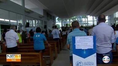 Missas adotam medidas de prevenção durante homenagens à Nossa Senhora da Conceição - Festa neste ano adotou restrições devido à pandemia de Covid-19.