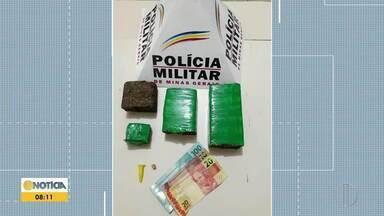 Homem é preso com drogas escondidas no carro em Timóteo - O material estava escondido no farol e no acabamento lateral da carroceria do veículo.