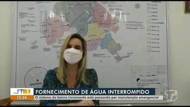 Sistema do bairro Livramento está passando por manutenção emergencial - Fornecimento de água será interrompido; veja qual a previsão de retorno do abastecimento.