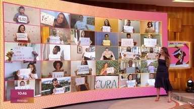 'Encontro' começa com mensagens de otimismo para Fátima Bernardes - Confira