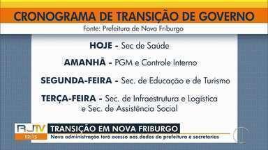 Processo de transição é iniciado oficialmente em Nova Friburgo, no RJ - Agora, cada secretário do novo governo pode ter acesso a dados da sua pasta.