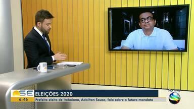 Prefeito eleito de Itabaiana, Adailton Sousa, é entrevistado pelo Bom Dia Sergipe - Prefeito eleito de Itabaiana, Adailton Sousa, é entrevistado pelo Bom Dia Sergipe.