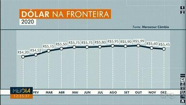 Meio-Dia Paraná mostra oscilação do dólar turismo - A variação mostra os valores desde janeiro desse ano.
