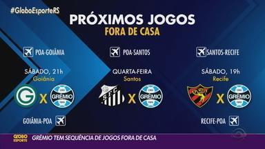 Grêmio enfrenta sequência de jogos fora de casa a partir deste fim de semana - Confira o calendário de jogos do time.