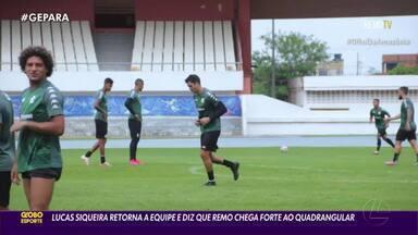 Remo voltará a contar com Lucas Siqueira contra o Londrina - Volante foi poupado da última partida para não correr o risco de ficar suspenso.
