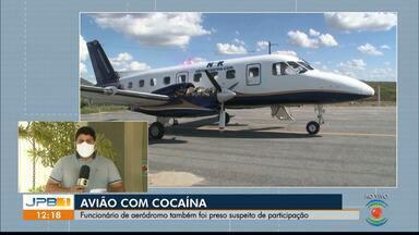 Avião com mais de 750 kg de cocaína é apreendido na Paraíba - Funcionário de aeródromo foi preso suspeito de participação.