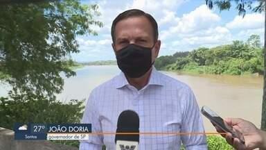 Doria afirma que acredita na liberação da vacina Coronavac pela Anvisa - Governador de São Paulo esteve na quarta-feira no Vale do Ribeira.
