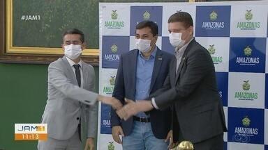 Governador e prefeito eleito de Manaus anunciam parceria - Encontro na sede do governo ocorreu para tratar sobre áreas de infraestrutura, saúde e segurança.