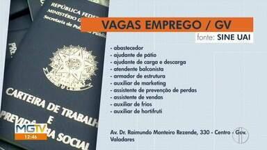 Sine de Governador Valadares tem vagas de empregos disponíveis - Oportunidades são para várias áreas.