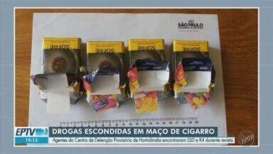 Agentes apreendem drogas sintéticas em maços de cigarro enviados ao CDP de Hortolândia - SAP informa que LSD e K4 teriam sido enviados pela mãe de um dos sentenciados.