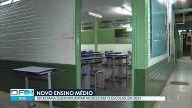Secretaria de Educação amplia novo modelo do Ensino Médio no DF - Segundo a secretaria, estudantes de 12 escolas públicas terão aulas de acordo com o modelo de ensino, a partir de 2021.