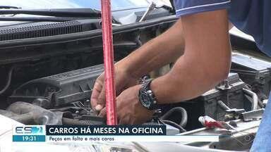 Peças de carros estão em falta e mais caras no ES - Assista a seguir.