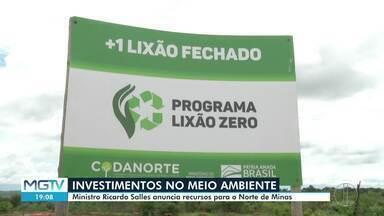 Usina de Triagem e Compostagem de lixo é inaugurada em Francisco Dumont - Ministro do Meio Ambiente, Ricardo Salles, e o vice governador de Minas, Paulo Brant, participaram da solenidade de inauguração.