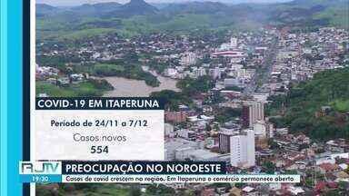 Casos de Covid-19 crescem no Noroeste Fluminense - Apesar do aumento, não há sinais de medidas mais rígidas para combater a pandemia.
