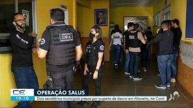 Treze pessoas são presas suspeitas de desvio de recursos da saúde em Altaneira - Saiba mais no g1.com.br/ce