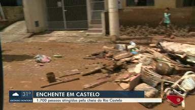 Cheia do Rio Castelo atinge 1.700 pessoas no Sul do ES - Assista.