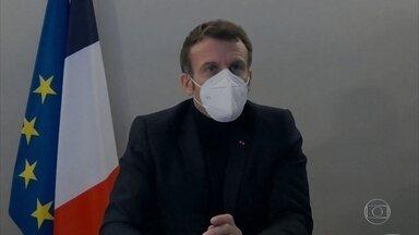 Macron é diagnosticado com covid-19 - Presidente francês se reuniu com vários líderes no fim de semana, que disseram que vão entrar em isolamento como precaução.