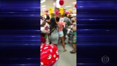 Promoção de loja gera confusão em Bangu - Prefeitura do Rio dicidiu suspender cirurgias eletivas da rede municipal.