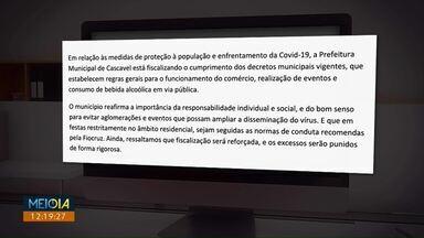 Mesmo com toque de recolher, comércio de Cascavel pode abrir por 24h - Segundo a prefeitura a responsabilidade em cumprir os decretos é de cada cidadão.