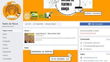 Teatro da Neura, em Suzano, promove festival de artes on-line a partir deste sábado - As apresentações começam neste sábado (19) e vão até o dia 23. As transmissões serão feitas na página do Facebook do grupo.