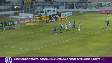 Confiança encara a Ponte de olho na reabilitação na Série B - Partida acontece às 19h, na Arena Batistão.