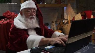 Papai Noel virtual é alternativa para famílias em 2020 - As medidas de proteção contra o coronavírus mudaram a rotina de todos, e com o Papai Noel não seria diferente.
