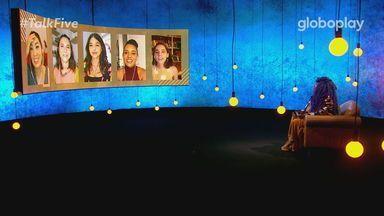"""Talk Five - 21/12/2020 - As cinco melhores amigas de """"AS FIVE"""" se encontram, ao vivo, com Preta Rara para rever juntas os melhores momentos do episódio da série exibida na quinta-feira e para pôr a conversa em dia. Toda segunda-feira, às 17h."""