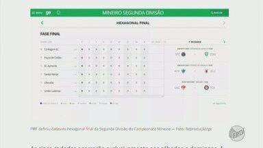 Federação define datas do hexagonal final da Segunda Divisão do Mineiro - Federação define datas do hexagonal final da Segunda Divisão do Mineiro
