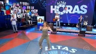 Sheila Mello dança o Melô do Tchan - Serginho recebe a dançarina no último Altas Horas de 2020