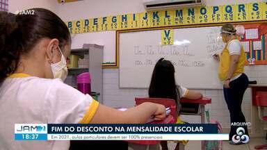 Desconto na mensalidade escolar deve acabar - Em 2021, aulas particulares devem ser 100% presenciais