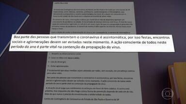 Médicos alertam sobre risco de contaminação nos eventos de fim de ano - Em São Paulo, as comunidades médica e cientifica fazem apelos públicos para que a população evite festas e aglomerações neste fim de ano.